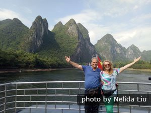 Customers enjoying the Li River