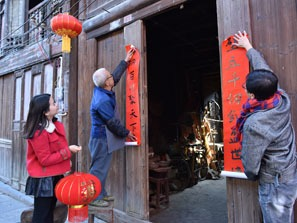 Spring Festival Couplets are must for chinese new year decorations