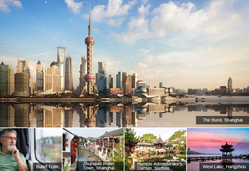 Shanghai, Suzhou and Hangzhou