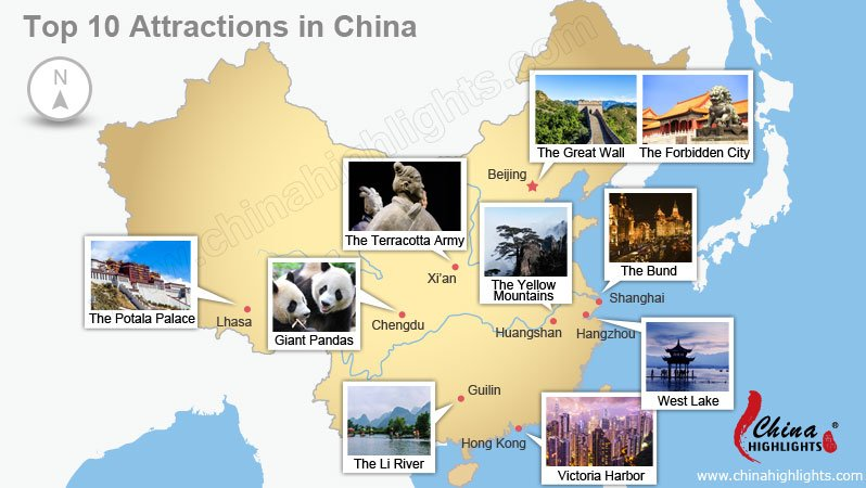 Chinas Top Ten Attractions 10 Mustvisit Sights in China – Beijing Tourist Attractions Map