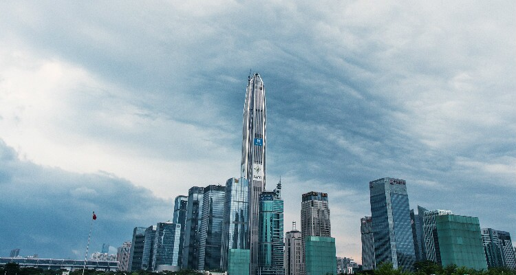 The Ping An IFC in Futian is the tallest in Shenzhen