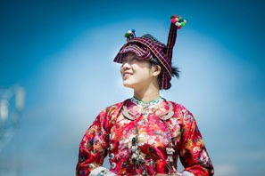 Zhuang Chinese minority clothing