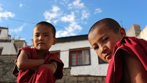 Young monks in China