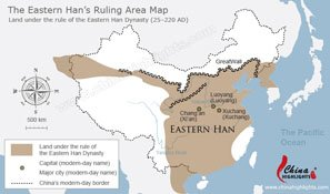 Eastern Han Dynasty China Map — The Han Empire Post 25 BC