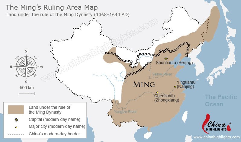 Ming Dynasty Map Map Of Ming S Ruling Area