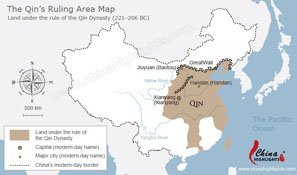 The Qin Dynasty Map
