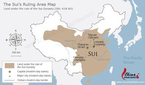 The Sui Dynasty Map