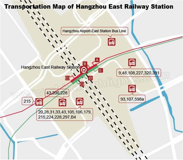 Hangzhou Subway Map.Hangzhou East Railway Station Our User Guide