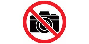 No photography is allowed