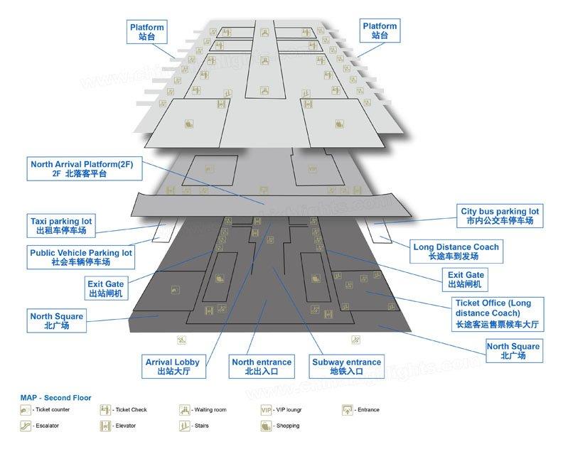 Nanjing South Station Plan View