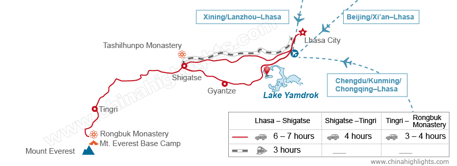 How to Get to Mount Everest, Map of Mount Everest Transportation