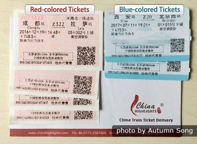 The train tickets look like