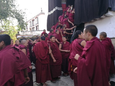 Monks are going for chanting