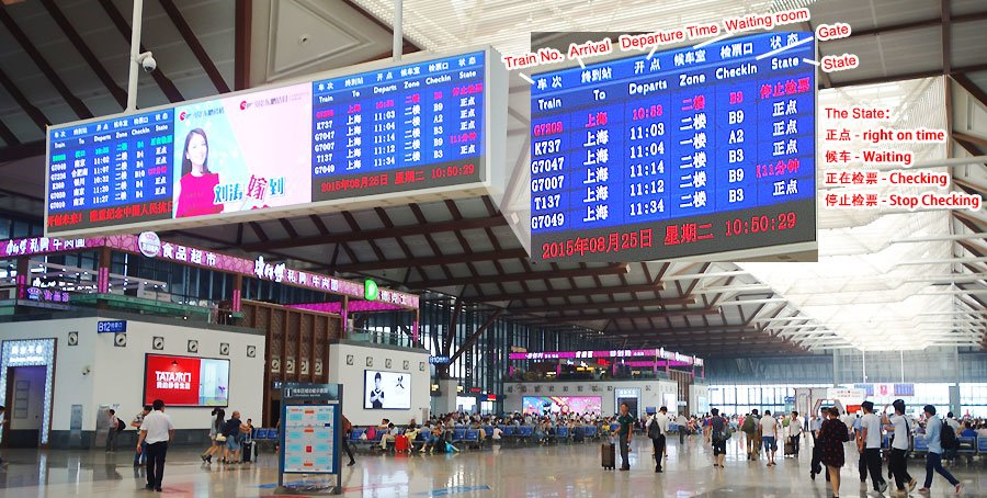 LED screen on the station
