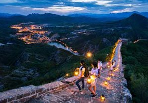 Simatai Great Wall at night