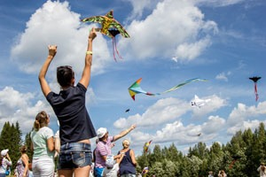 Flying kites is a popular pastime in China.