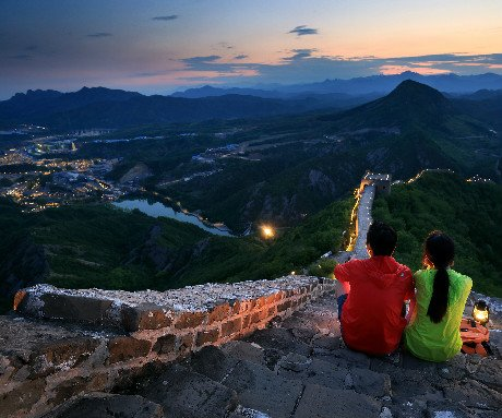 Night views of Great Wall