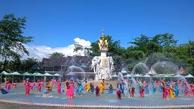 Water splash festival