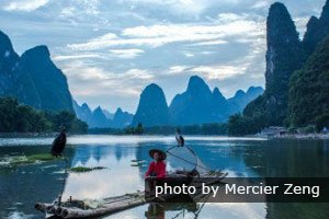 See classic China karst at the Li River