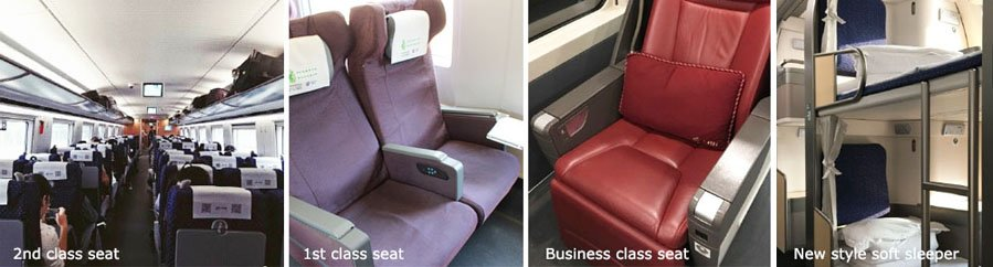 Type of Seats on G & D Trains