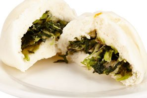 steamed vegetarian stuffed bun