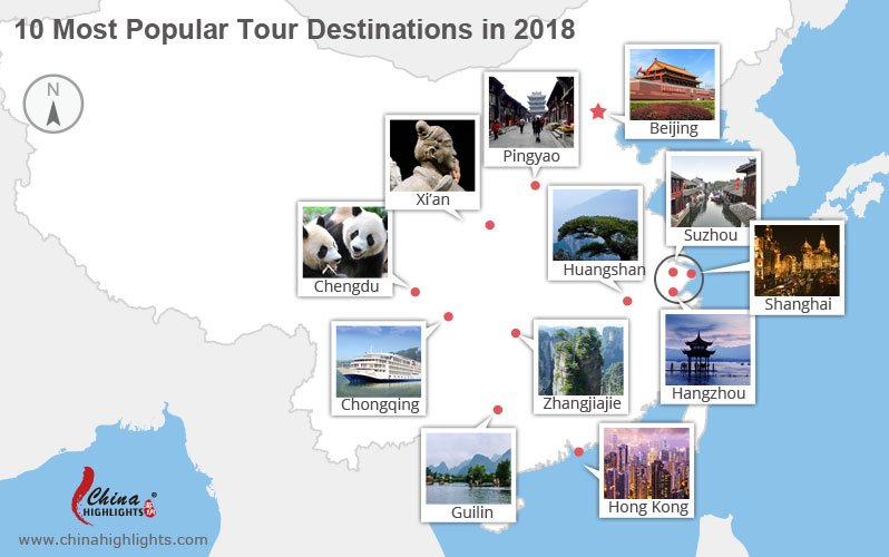 top China destinations for 2018