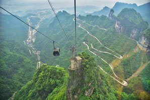 The beautiful scenery of Zhangjiajie