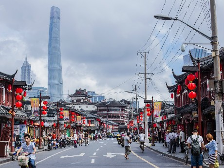 Shanghai Tower and the Yuyuan Market