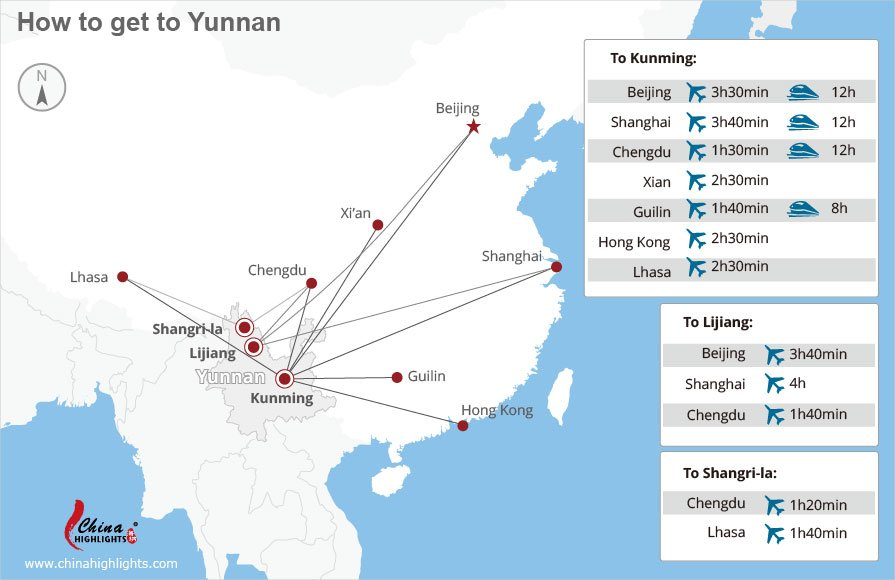 how to get to Yunnan