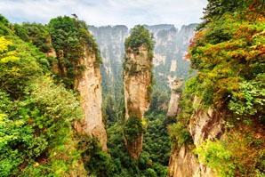 The Hallelujah Mountains in Zhangjiajie National Forest Park