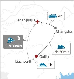 How to get from Guilin to Zhangjiajie