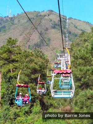 View to Yao Mountain from Cable Lift