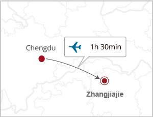 How to get Zhangjiajie from Chengdu
