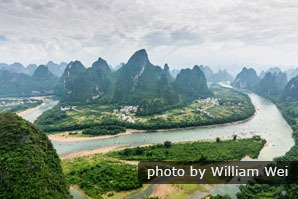 The bird's view of the Li River