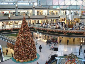 Christmas in a China mall