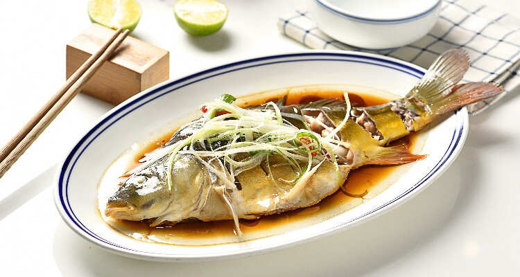 Steamed fish with slivers of ginger is an example of a mild and delicious traditional dish.