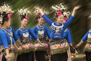 Enjoy ethnic minority custom in Guizhou