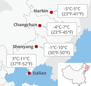 northeast china weather in march