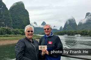 Enjoying the 20 yuan banknote scenery on a Li River Cruise