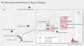 The recommended areas to stay in Beijing