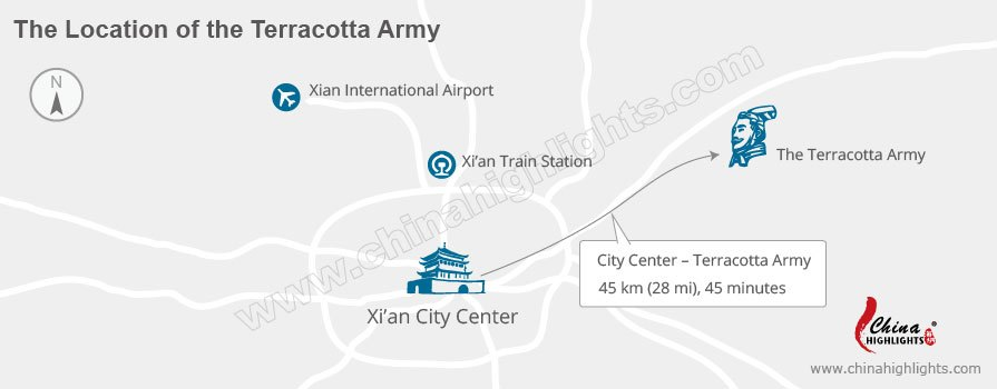 The location of the Terracotta Army