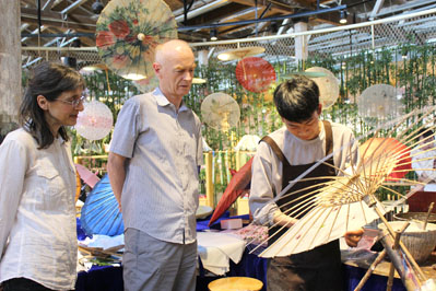 ombrelli di carta cinesi