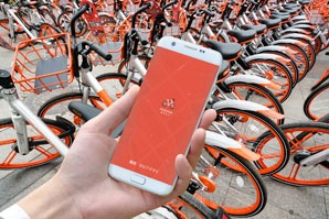 Dockless bike sharing in China