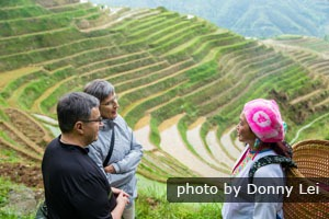Longji rice terraces in Spring