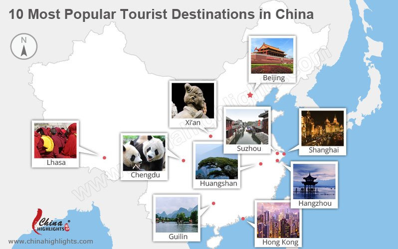 the most popular tourist destinations in China