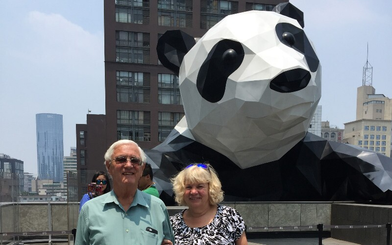 The World's 2 Giant-est Pandas - Giant Panda Structures in China
