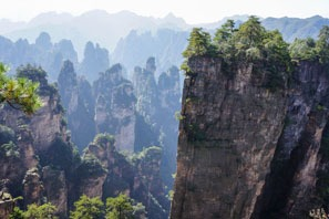 Like Guilin, Zhangjiajie is famous for landscape scenery