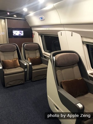 business class on Hong Kong high-speed trains, China trains