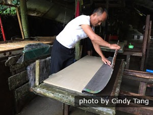 Ancient papermaking in Shiqiao Miao Village