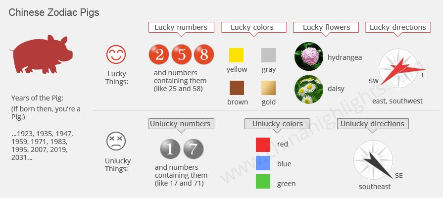 The year of the pig 2019 chinese zodiac pig personality - Lucky color of the year 2019 ...